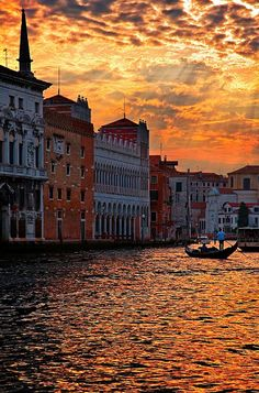 Loved being there with my hubby! Sunset Over Grand Canal, Venice, Italy