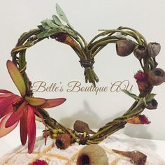 woodland forest cake topper, Australian native wedding decorations, gumnuts eucalyptus decor, twig love heart cake topper, rustic twig heart These beautiful woodland inspired, Australian native cake topper hearts make perfect wedding, engagement, bridal shower, baby shower or birthday decor The