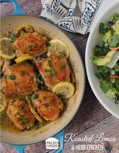 Paleo Roasted Lemon and Herb Chicken - www.paleocupboard.com