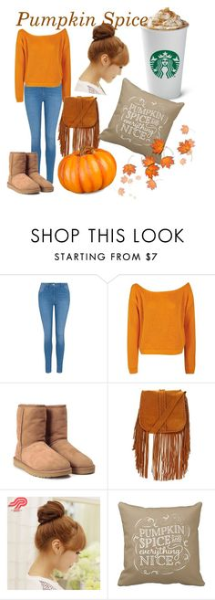 """""""Pumpkin Spice!"""" by azura123 ❤ liked on Polyvore featuring George, Boohoo, UGG, Pin Show and Improvements"""