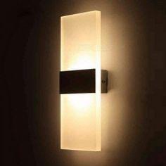 Outreo Modern Acrylic LED wall Sconces Light Lamp Decorative Light Fixture for Bedroom, Living Room, Balcony, Corridor, Warm White Luxury Lighting, Sconce Lighting, Modern Lighting, Outdoor Lighting, Modern Wall Lights, Wall Lighting, Lighting Ideas, Lighting Sale, Lighting Design