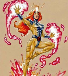 The White Hot Room : Jean Grey by David Yardin * Dc Comics Women, Marvel Comics Art, Comics Girls, Marvel Dc Comics, Marvel Heroes, Comic Books Art, Comic Art, Book Art, Jean Grey Xmen
