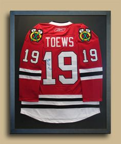 A hockey jersey framing option, where the sleeves aren't so pressed. Hockey unis are so cumbersome!
