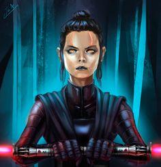 Darth Rey by Jair Andrés Medina Paéz (I don't like Rey as a Sith Lord/Villain but I like the artwork)