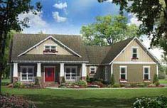 MonsterHousePlans - 2-276 Craftsman Style House Plans, Ranch House Plans, Country House Plans, Craftsman Exterior, Craftsman Houses, Country Farm, The Plan, How To Plan, Style At Home