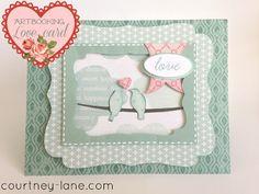 Cricut Artbooking Love Card!