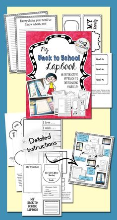 This BACK TO SCHOOL / ALL ABOUT ME resource provides materials needed for students to create a fun lapbook introducing themselves at the beginning of a new school year.  Perfect for students in mid to upper elementary, this resource includes a variety of materials students can use to introduce themselves while also showcasing some of their interests and talents. Also included are resources for kids to record information about the new school year and their new teacher / classroom!