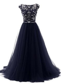 Fashion navy blue cap sleeves ball gown prom dresses,back v beads crystals prom dress evening gowns formal women dresses Tulle Prom Dress, Prom Dresses Blue, Pretty Dresses, Beautiful Dresses, Bridesmaid Dresses, Amazon Prom Dresses, Pageant Dresses, Mini Dresses, Wedding Bridesmaids