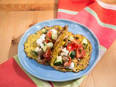Zucchini Taco Shells with Beef and Zucchini-Tomato Salsa recipe from Nikki Dinki via Food Network