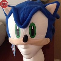 New Sonic The Hedgehog Fleece Blue Cap For Man Boy Plush Hat Cosplay Anime…