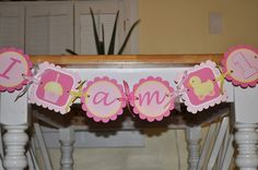 Highchair Banner  1st Birthday Banner  Cupcake by sosweetpartyshop, $15.00