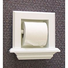 Bevel Frame Recessed Toilet Paper Holder