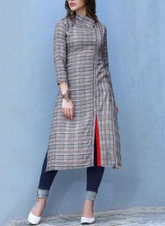 Multi Colour Festival Party Wear Kurti - Genuine attractiveness comes out from your dressing style with this multi colour rayon party wear kurti. The enticing print work throughout the dress is awe inspiring. (Slight variation in color, fabr… Source by - Salwar Neck Designs, Kurta Neck Design, Kurta Designs Women, Dress Neck Designs, Blouse Designs, Printed Kurti Designs, Simple Kurti Designs, Kurti Sleeves Design, Sleeves Designs For Dresses