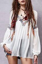 2015 venda quente mulheres moda chiffon solta camisa blusa de manga lanterna do vintage impresso(China (Mainland))