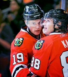 2/30 - pictures of Jonathan Toews and Patrick Kane.
