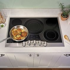 how to clean stove top element from smoking