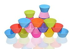 Silicone Baking Cups Cake Muffin Mold Silicone Cupcake Liners Cupcake Liners Pack of 32 Reusable and NonSticky8 Colors >>> You can get additional details at the image link.(This is an Amazon affiliate link and I receive a commission for the sales)