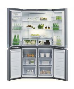 Buy Hotpoint American-Style Freestanding Fridge Freezer, A+ Energy Rating, Wide, Stainless Steel from our Fridge Freezers range at John Lewis & Partners. Free Delivery on orders over American Fridge Freezers, American Style Fridge Freezer, Fridge Storage, Kitchen Storage, Kitchen Pantry, New Kitchen, Kitchen Ideas, Freestanding Fridge