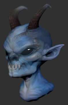 Blue Imp by ~GrayGinther on deviantART