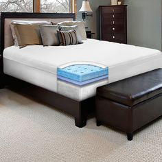 This 10-inch memory foam mattress brings a new degree of comfort to your bed. This mattress fits on your queen-sized bed frame and provides great support throughout the night. The foam adjusts to your body and disperses your weight for better sleep.