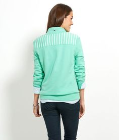 Striped Shoulder Shep Shirt! Why can I not have every Vineyard Vines pullover ever
