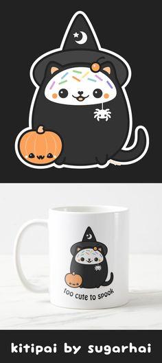 Super cute kitipai cat witch mugs.