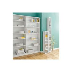 Maine Tall Wide Bookcase - White.
