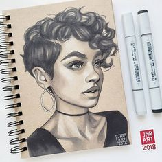 🌕 Great marker drawing 🌟 Swipe to see step by step 👉 😃 Guess who? … 🌕 Great marker drawing 🌟 Swipe to see step by step 👉 😃 Guess who? Pencil Art Drawings, Art Drawings Sketches, Cute Drawings, Marker Drawings, Arte Sketchbook, Art Inspiration Drawing, Drawing Ideas, Black Girl Art, Marker Art