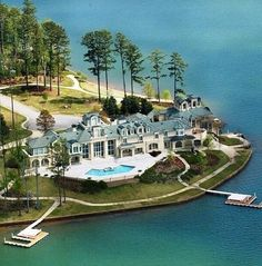 when I hit the lotto. Alexander City, AL Waterfront Mansion « Homes of the Rich – The Web . Mega Mansions, Mansions Homes, Luxury Life, Luxury Homes, Luxury Apartments, Luxury Living, Beautiful Homes, Beautiful Places, Beautiful Dream