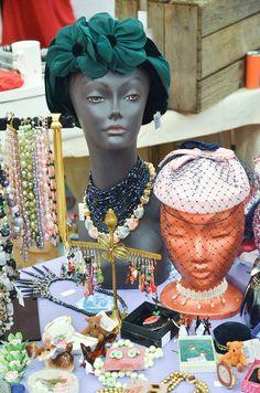 Vintage Hats & Jewelry Display
