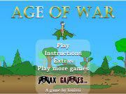 Hi guys! Age of War 2 is a mix between a defense game and a strategy game. The goal of the game is to survive and destroy the enemy base. The half-left side
