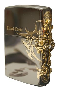 Zippo Lighter Genuine Design Side Tribar Cross Emblem Black Ice -- You can get more details by clicking on the image.