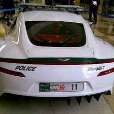 Aston martin one-77 police car.