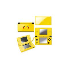 Nintendo Presents Pikachu Theme DS System ❤ liked on Polyvore featuring electronics, pokemon, pikachu, accessories and fillers