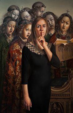 Incredible oil painting by Polish artist Agnieszka Nienartowicz. - Art People Gallery