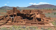 This 700-year-old Wupatki Ruin, Once home to prehistoric Anasazi and Sinagua Indian farmers and traders , is northwest of Flagstaff, AZ and contains nearly 100 rooms.