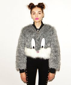 What's up, doc? This Bugs Bunny fuzzy jacket from Lazy Oaf, that's what. Love this so much!!