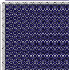 Weaving Draft Threading Draft from Divisional Profile, Tieup: Donat, Franz Large Book of Textile Patterns, Draft #28377, Germany, 2005-2015, #63070