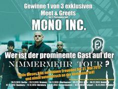 Heute letzter Tag! Im MONO INC. TV aus Würzburg (14.06.) werden die Gewinner bekannt gegeben.