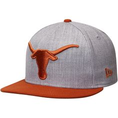 Texas Longhorns New Era NCAA Grand Fitted Structured Hat - Heathered Gray - $27.99