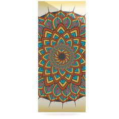 "Famenxt ""Floral Mandala"" Multicolor Geometric Luxe Rectangle Panel"