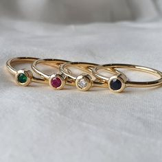 Sapphire Vega Ring - Q / 9ct Yellow Gold