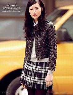 Liu Wen in Alice + Olivia #holtsmag