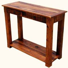 Solid Wood 2 Storage Drawer Sofa Entryway Console Table