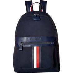 Tommy Hilfiger Icon Backpack Canvas (Tommy Navy) Backpack Bags (2,845 DOP) ❤ liked on Polyvore featuring men's fashion, men's bags, men's backpacks, navy, mens one strap backpack and mens canvas backpack
