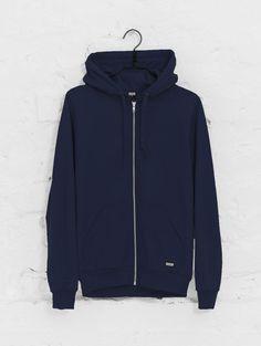 Slim Zipper Hoodie dark blue | R-Collection