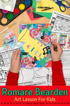 Looking for an engaging Romare Bearden art project for kids? Need to teach about the Harlem Renaissance and the Great Migration? Modern art Art Games For Kids, Art Lessons For Kids, Art Lessons Elementary, Projects For Kids, Art Projects, Music Lessons, Art Sub Plans, Art Lesson Plans, Harlem Renaissance