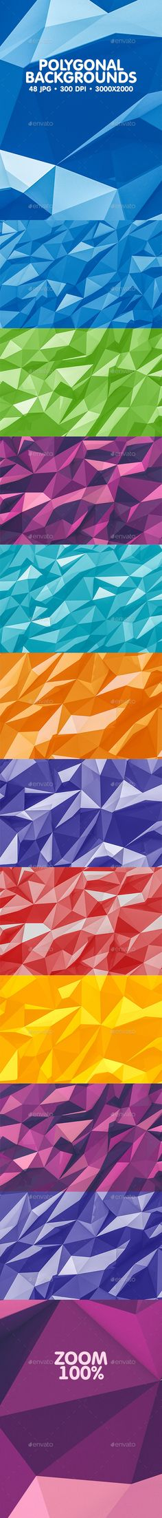 Polygonal Backgrounds - Abstract #Backgrounds Download here: https://graphicriver.net/item/polygonal-backgrounds/20183638?ref=alena994