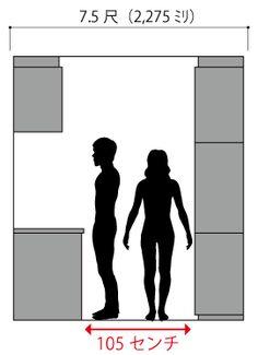 キッチンの流し台と食器棚の距離