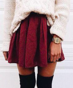 knits + skater dresses + otk boots
